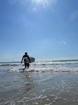 サーフィンエリアまでも歩いて直ぐです。