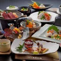 【料理/夕食】両築別邸の会席料理は新鮮な魚からジューシーなお肉までボリューム満点です♪