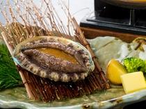 アワビの陶板焼き一例
