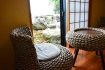 客室から眺める庭 一例