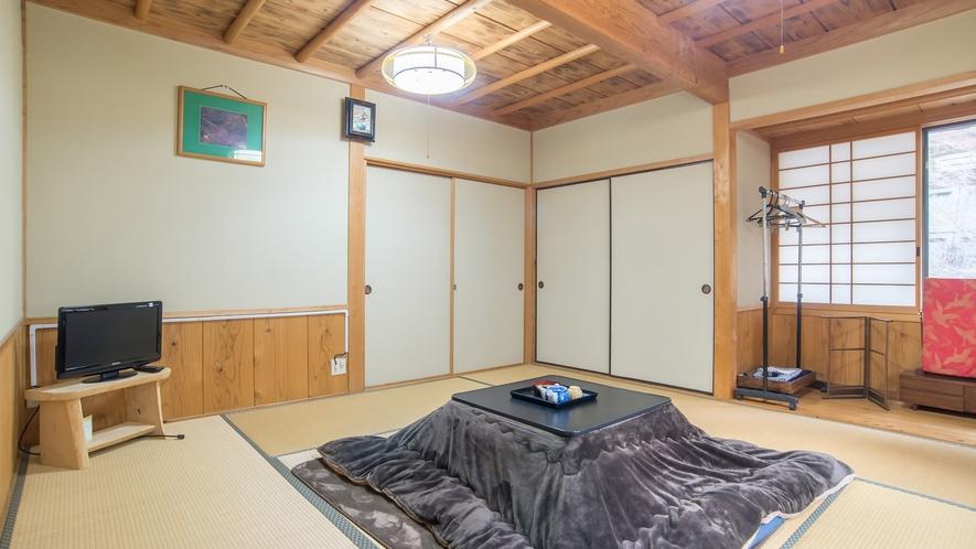 *【本館和室8畳】純和風のお部屋でおだやかなひとときをお過ごしください。