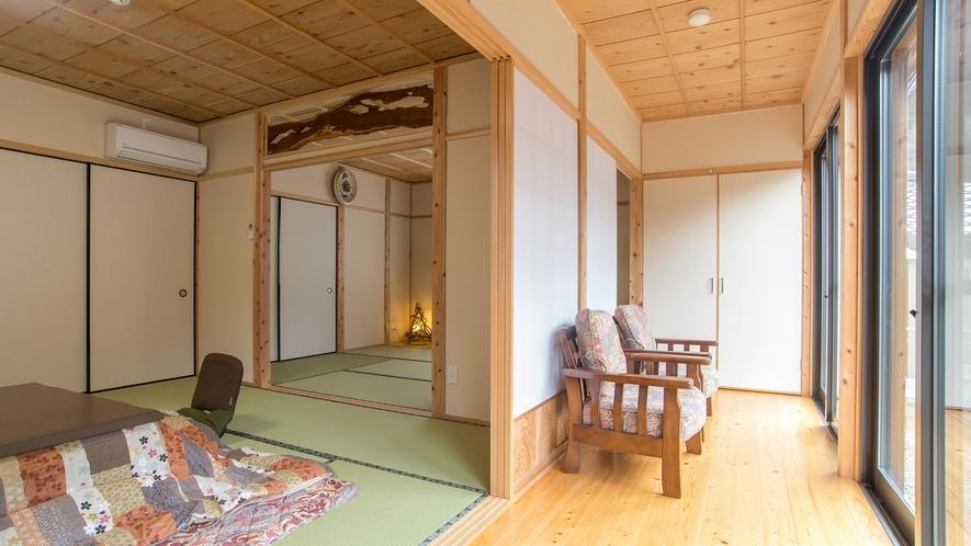 *【離れ和室】日当たりの良いお部屋で、窓から自然も感じられます。