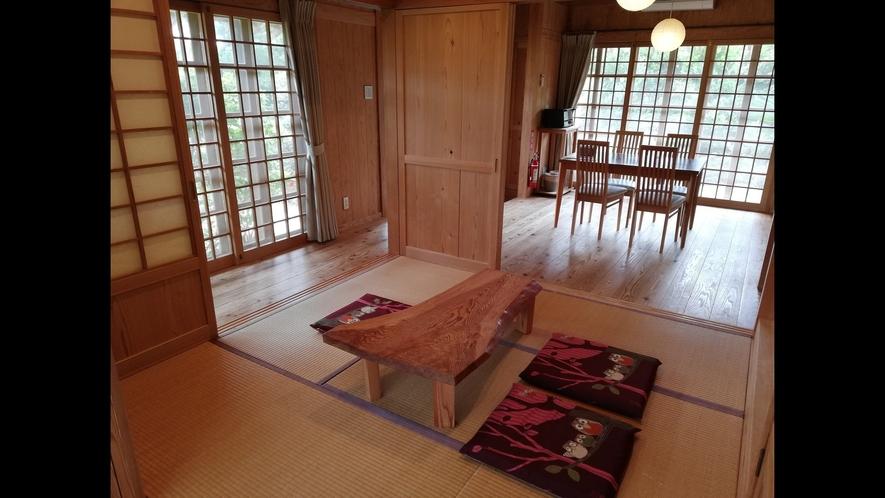 和室とダイニングテーブル