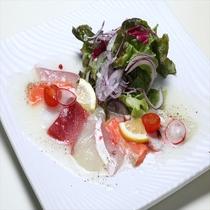 旬魚の和風カルパッチョサラダ仕立て