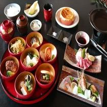 【くずし卓袱龍馬御膳】気軽に卓袱料理を味わえると県外客にも人気。和牛・ハトシなど長崎名物が味わえる。