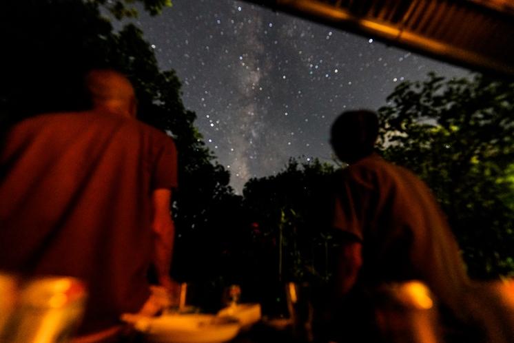 星を見ながら・・・
