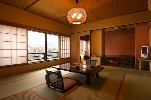 眺望抜群の和室(堀コタツ+温泉檜風呂)