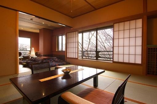 角部屋(堀コタツ+温泉檜風呂