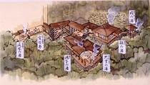 四季の湯座敷 イラスト