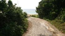 ビーチ砂利道