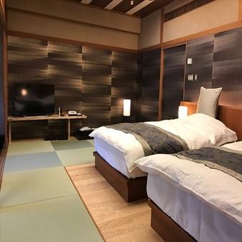 【1室限定:夢月】露天風呂・内風呂付き和室 12畳ベット付