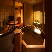 和洋室についている露天風呂の一例