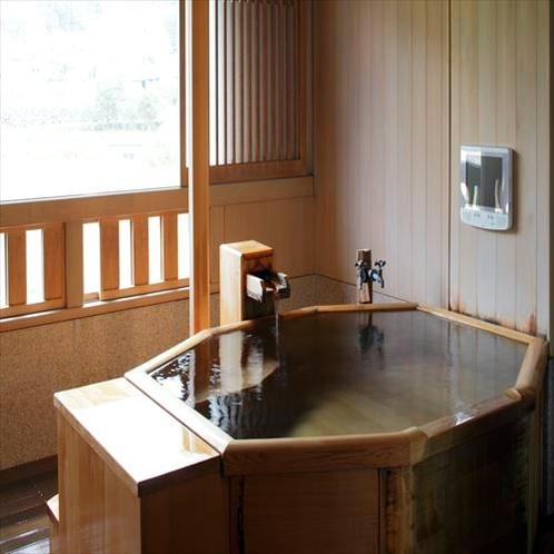 かりん和洋室についている露天風呂の一例