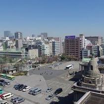 高層階からの眺望(築地本願寺側)
