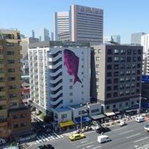 高層階からの眺望(築地市場側)
