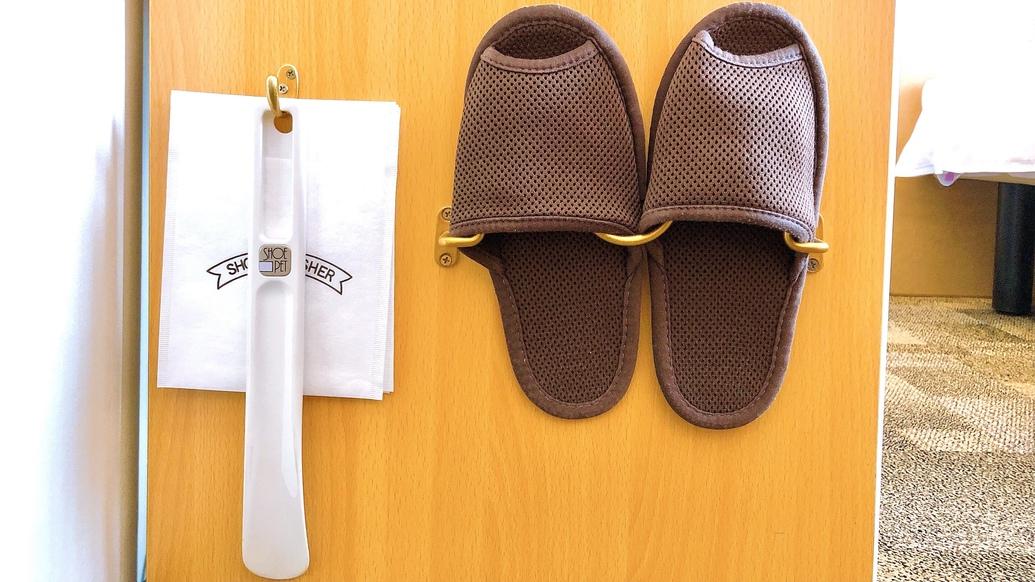【客室備品】スリッパ・靴ベラ
