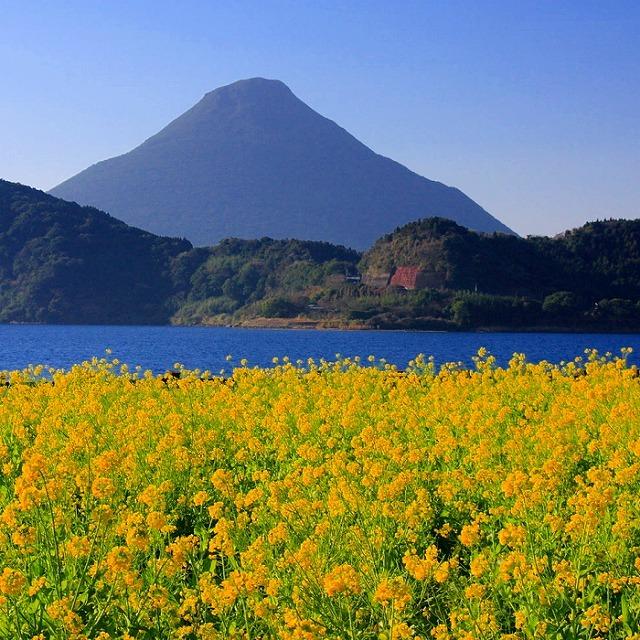 5,000年以上前に形成されたカルデラ湖で、その大きさは九州一♪
