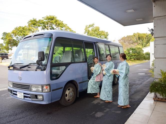 ホテルから無料砂むし温泉送迎バス 【3時半から30おき6時半までございます】
