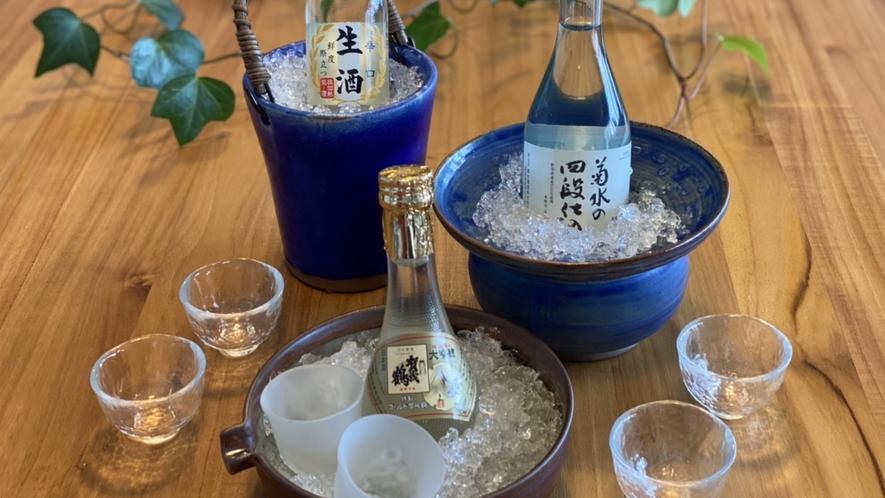 日本酒 日本酒では冷酒の甘口と辛口、熱燗もご用意しております。どうぞお召し上がりください。
