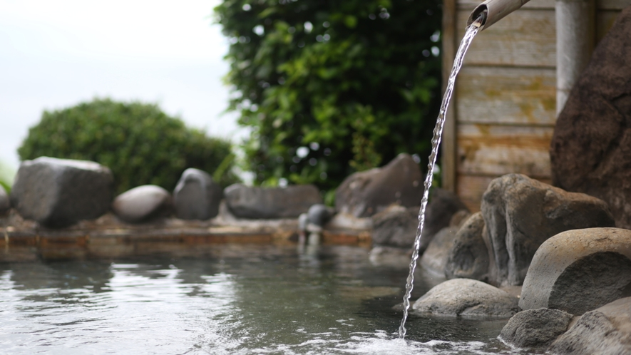 高さ25m!源泉かけ流し露天なのでいつでも新鮮なお湯が楽しめます♪