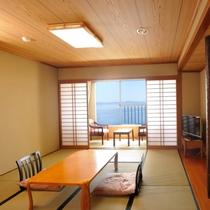 【オーシャンビュー和室】リゾートで和室!やっぱり温泉地は和室がいいわね♪広さ24.2平米(8畳)