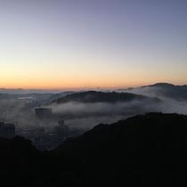 屋上展望台からの雲海