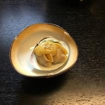 ハマグリ酢味噌がけ