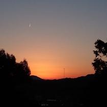 木洩れ日露天からの夕景