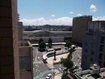 ホテルからの眺望 鹿児島中央駅