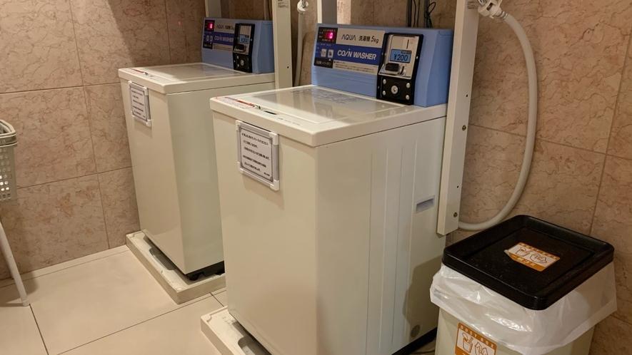 コインランドリー 洗濯機1回200円。