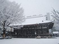 本能寺本堂 冬