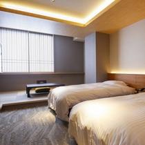 【ツイン+4畳】最上階、畳スペース付きのお部屋です。
