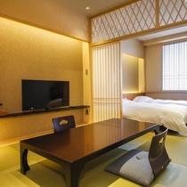 【和室ツイン】最上階(和室ツイン12畳)のお部屋です。