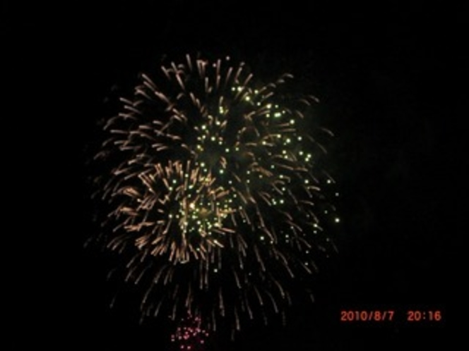 花火大会の時にホテルから撮った写真
