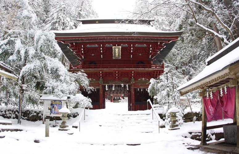 雪の花園神社