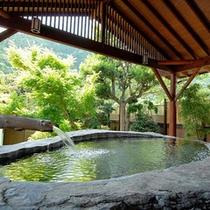 巨石風呂(新緑)