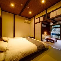 和室8~10畳[和ベッド]温泉内風呂付スタンダート 2019年改装