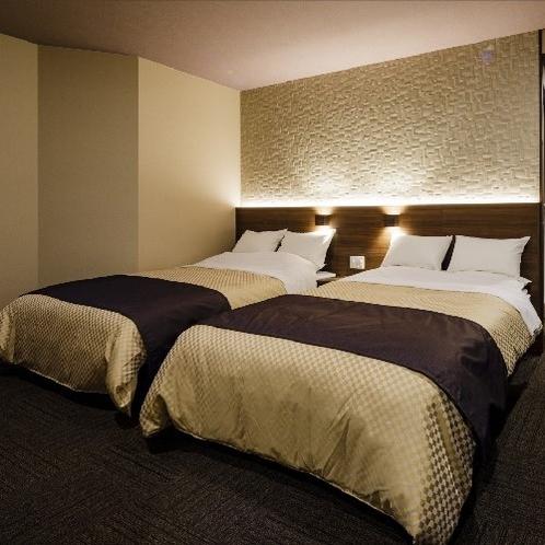 【6階デラックスツイン】記念日やお祝いの日に、ゆったりとした客室で贅沢な空間をご提供いたします。