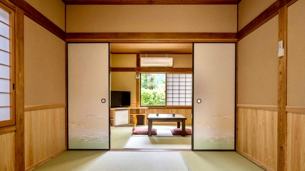 【福万山、日向岳】一軒家風客室(6畳+6畳)