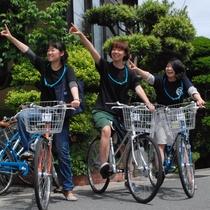 3人女子旅 レンタル自転車でゴー