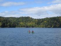チミケップ湖でカヌー体験