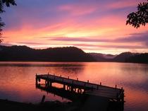 チミケップ湖の夕暮れ