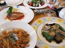 洋食ディナーコース例