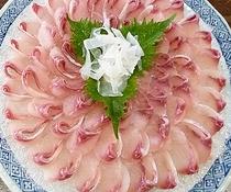 【別注料理】鯉の洗い ご希望のお客様は事前に宿までご連絡下さい。4000円税別