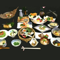*夕食全体(料理一例)