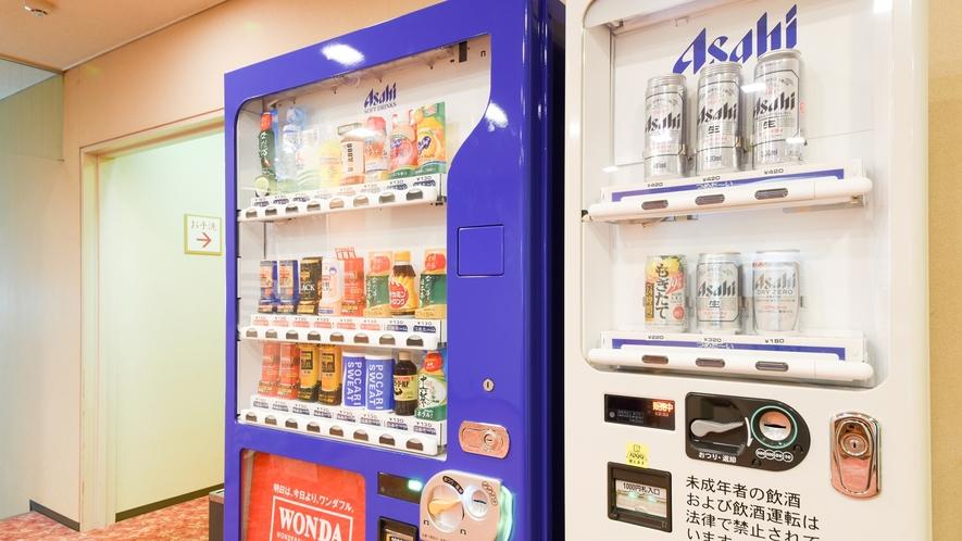 *館内の廊下に自動販売機を設置しております。
