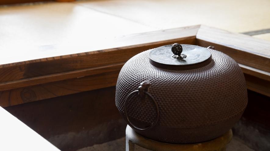 *囲炉裏のある落ち着いた空間で、安らぎのひとときを。