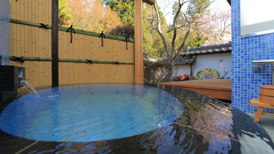 温泉露天付特別室73番の露天風呂
