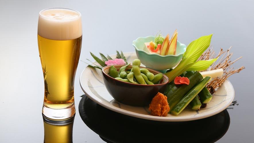 別注料理:ビールおつまみセット一例(一人前1650円税込)※ご宿泊当日もご注文可
