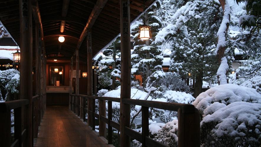 雪景色を眺めながら